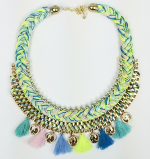 Multicolour Tassel Necklace