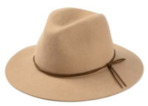 Tan Wool Fedora Hat