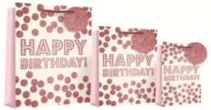 Birthday Glitter Dots Gift Bag