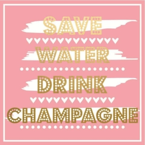Save Water Drink Champagne Greeting Card 16cm