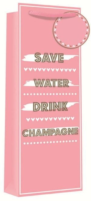 Save Water Drink Champagne Gift Bag