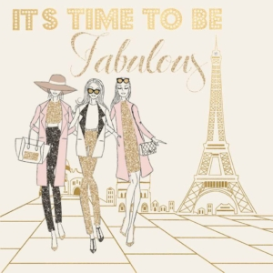 Its Time To Be Fabulous Greeting Card 16cm