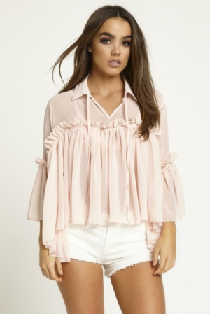 Pink Frill Swing Top