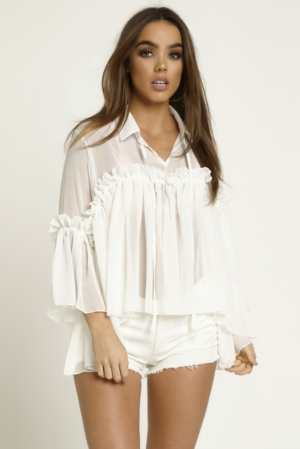 White Frill Swing Top