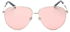 St Barths Tinted Pink Oversized Aviators