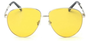 St Barths Tinted Yellow Oversized Aviators