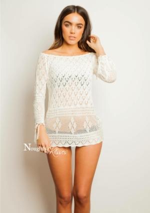 Crochet Off The Shoulder Dress