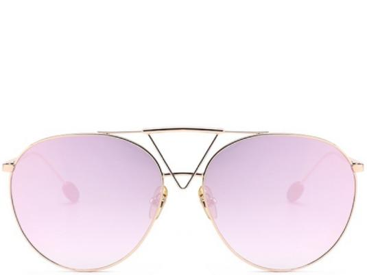 Key West Rose Gold Oversized Aviators