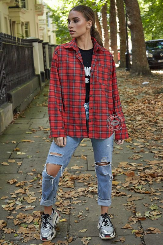 Red Check Shirt With Pocket