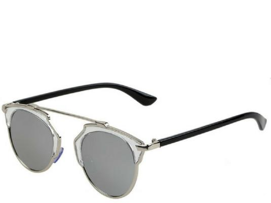 Phuket Retro Round Silver Mirrior Sunglasses
