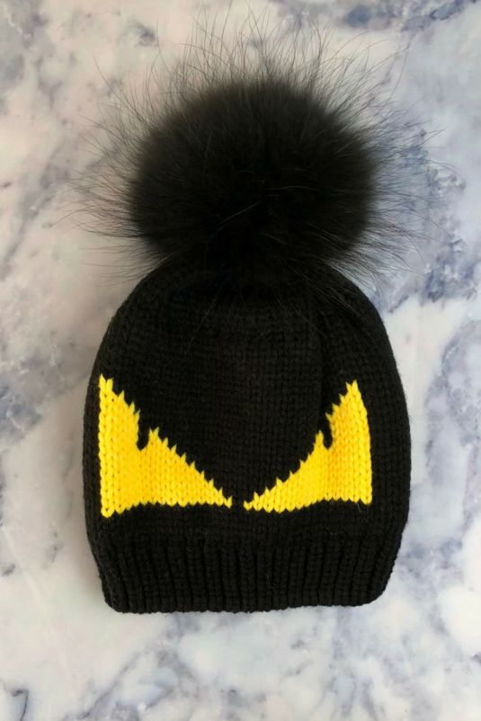 Black Monster Bobble Hat