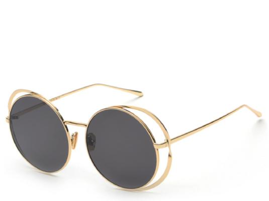 Vienna Black Round Sunglasses