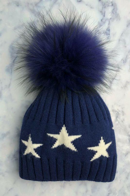 Navy STAR Bobble Hat