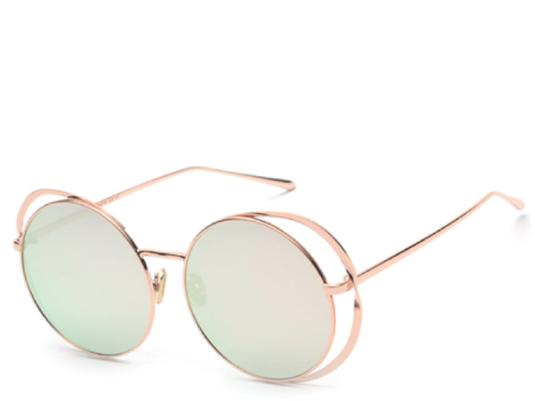 Vienna Rose Gold Round Sunglasses