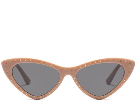 Hawaii Mocha Studded Cats Eye Sunglasses