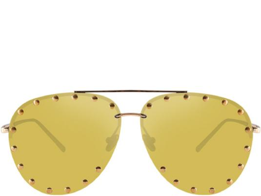 Gold Coast Gold Mirror Studded Oversized Aviators