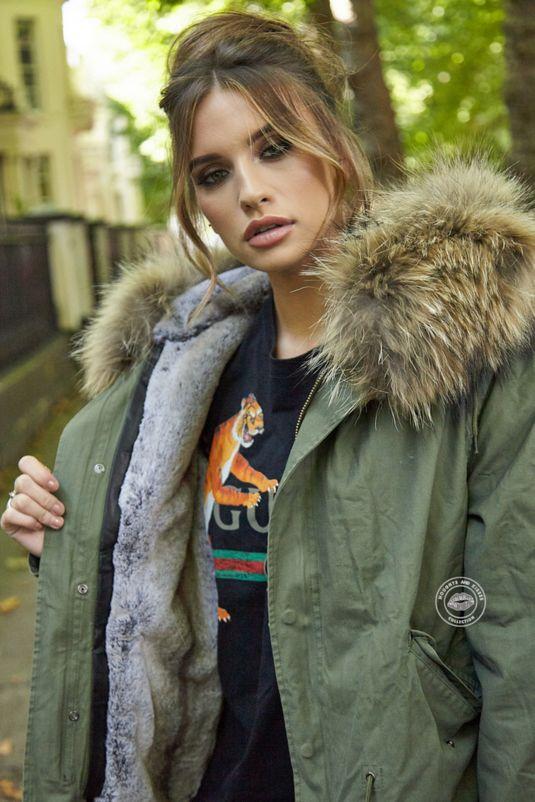 Delilah Khaki Parka - Natural Fur