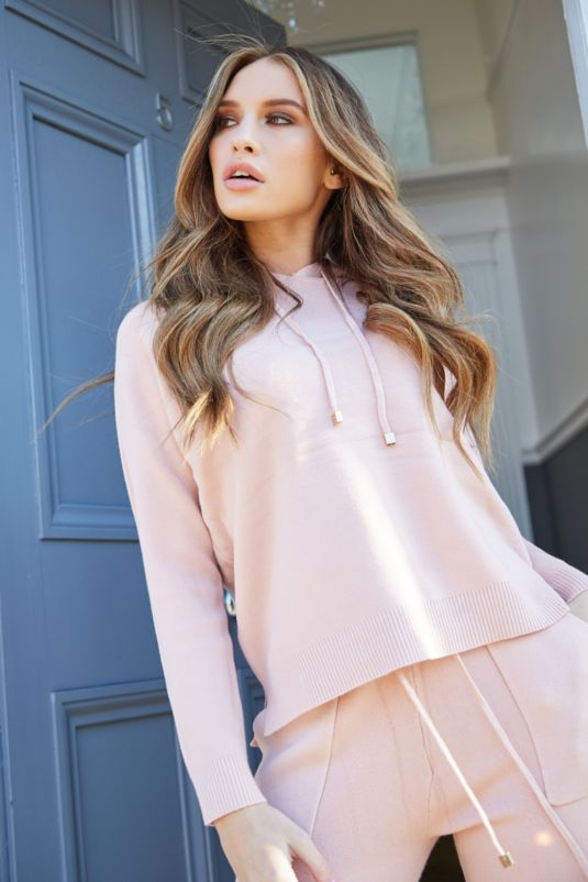 Ava Blush Pink Hooded Tracksuit