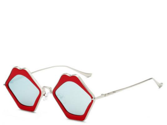 Mykonos Red Lips Sunglasses