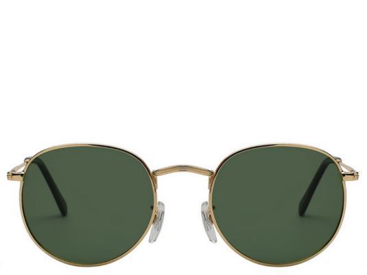 Marrakesh Black & Gold Round Sunglasses
