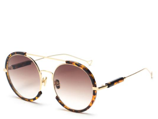 Sicily Oversized Leopard Round Sunglasses