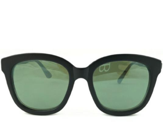 Tarifa Green Mirror Square Sunglasses