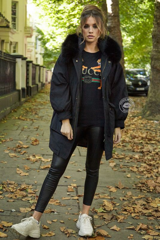 Martha Black Oversized Long Parka