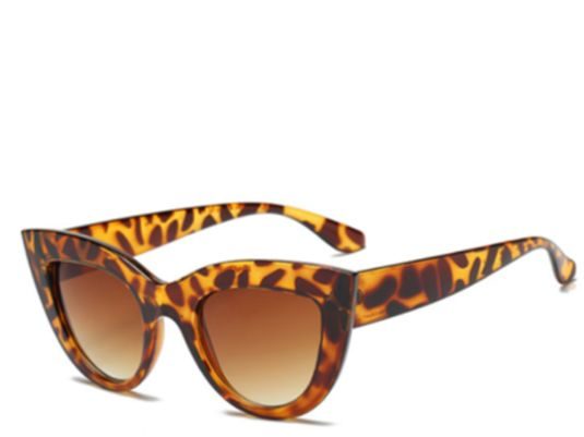 Barbados Chunky Leopard Cats Eye Sunglasses