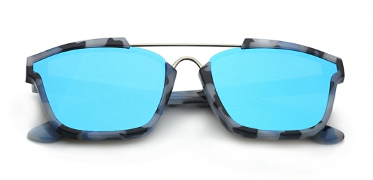 **JEMM** Greece Blue Flat Sunglasses