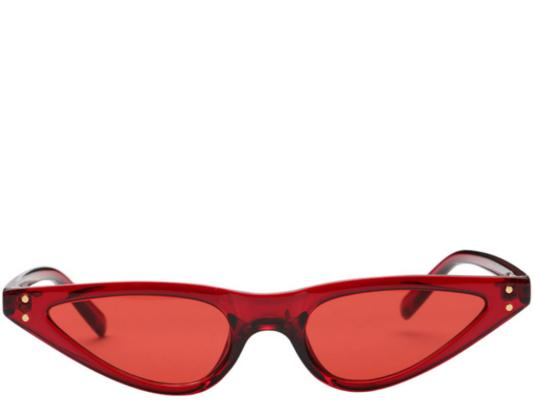 Palm Springs Red Tint Cats Eye Sunglasses