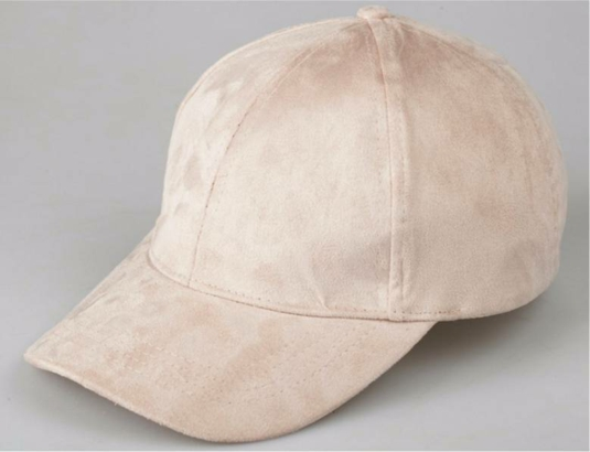 Dusky Pink Suede Cap