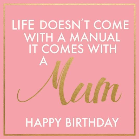 Mum Birthday Greeting Card 16cm