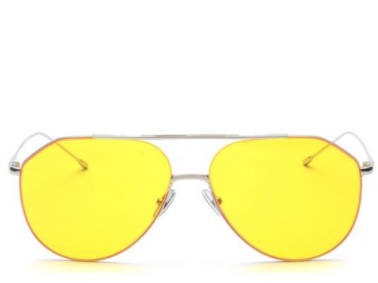82aef676e3 Marseille Oversized Yellow Tint Aviators