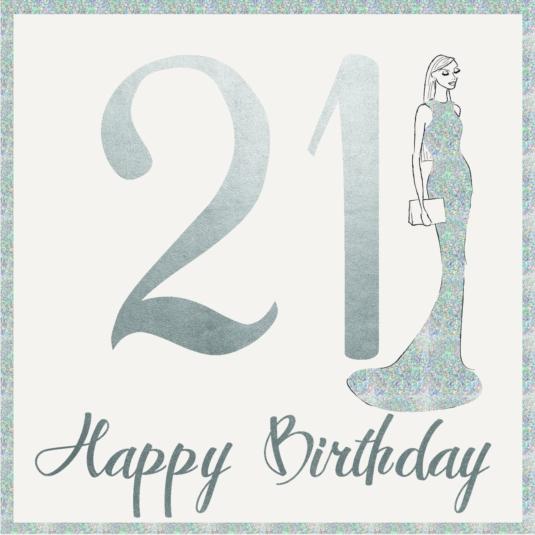 Age 21 Birthday Greeting Card 16cm