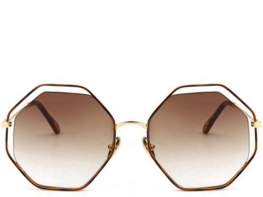 de4a82167fd Maui Tea Oversized Octagon Sunglasses