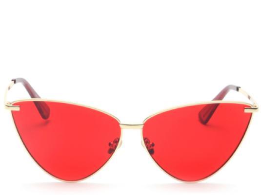 c52e73790d Seville Red Tint Cats Eye Sunglasses